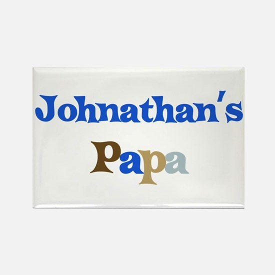 Johnathan's Papa Rectangle Magnet