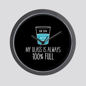 Glass Always Full Wall Clock