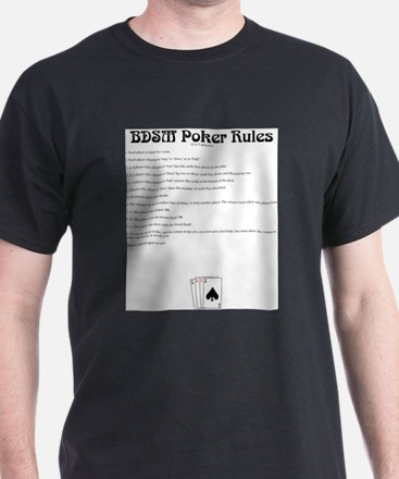 BDSM Poker Rules Ash Grey T-Shirt
