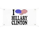 I Love Hillary Clinton Banner