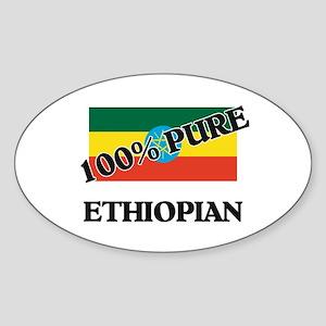 100 Percent ETHIOPIAN Oval Sticker