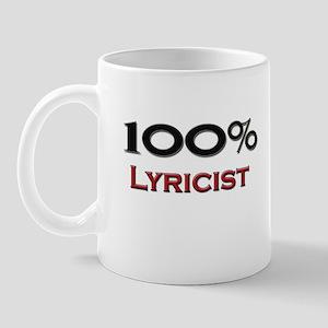 100 Percent Lyricist Mug