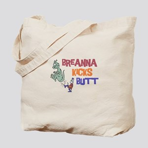 Breanna Kicks Butt Tote Bag