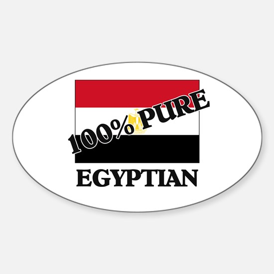 100 Percent EGYPTIAN Oval Decal