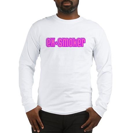 ex-smoker (pink) Long Sleeve T-Shirt