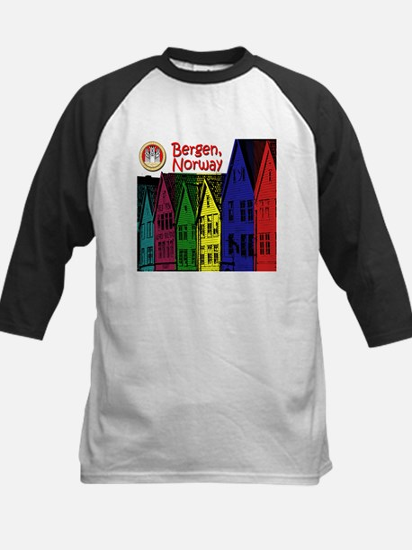 Bergen, Norway (Color) Kids Baseball Jersey