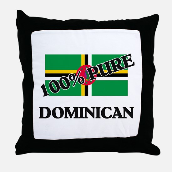 100 Percent DOMINICAN Throw Pillow