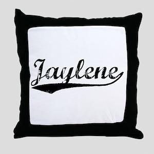 Vintage Jaylene (Black) Throw Pillow