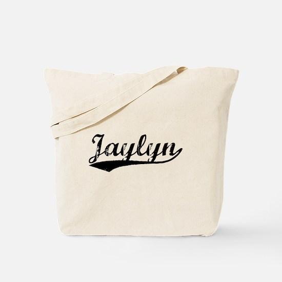 Vintage Jaylyn (Black) Tote Bag