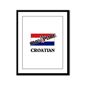 100 Percent CROATIAN Framed Panel Print