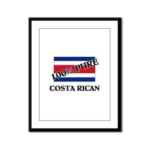 100 Percent COSTA RICAN Framed Panel Print