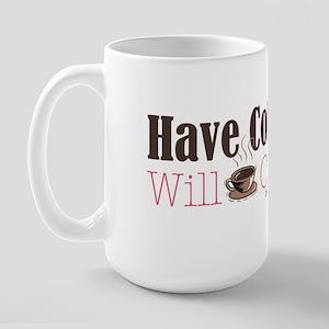 Have Coffee, Will Crop Large Mug