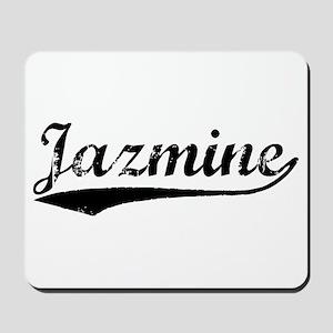 Vintage Jazmine (Black) Mousepad