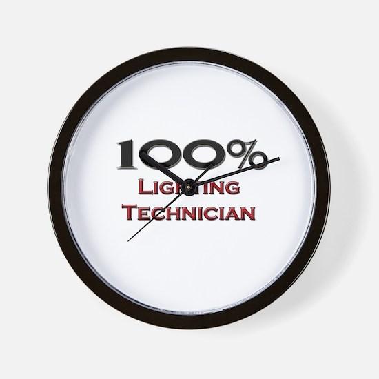 100 Percent Lighting Technician Wall Clock