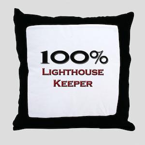 100 Percent Lighthouse Keeper Throw Pillow