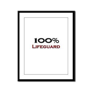 100 Percent Lifeguard Framed Panel Print