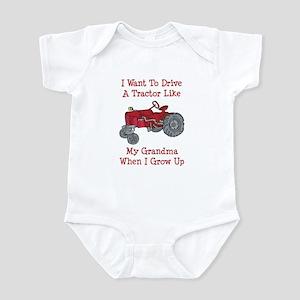 A Red Tractor Like Grandma Infant Bodysuit