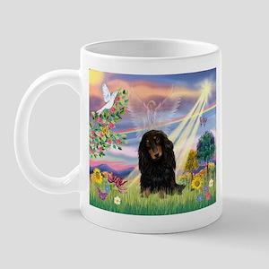 Cloud Angel Doxie (Black LH) Mug