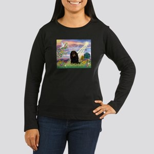 Cloud Angel Doxie (Black LH) Women's Long Sleeve D