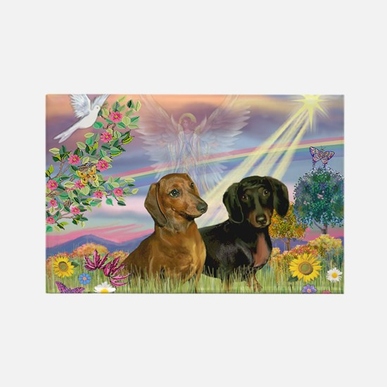 Cloud Angel Doxies Rectangle Magnet