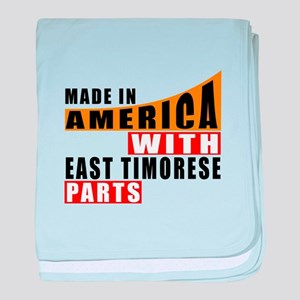 Made In America With East Timorese Pa baby blanket