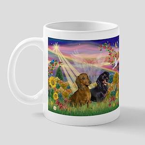 Autumn Angel & Dachshund Pair Mug