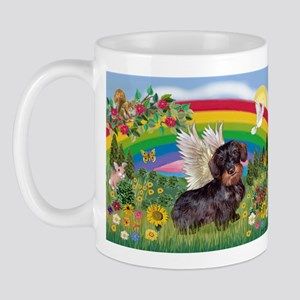 Rainbow & Wire Haired Dachshund Mug