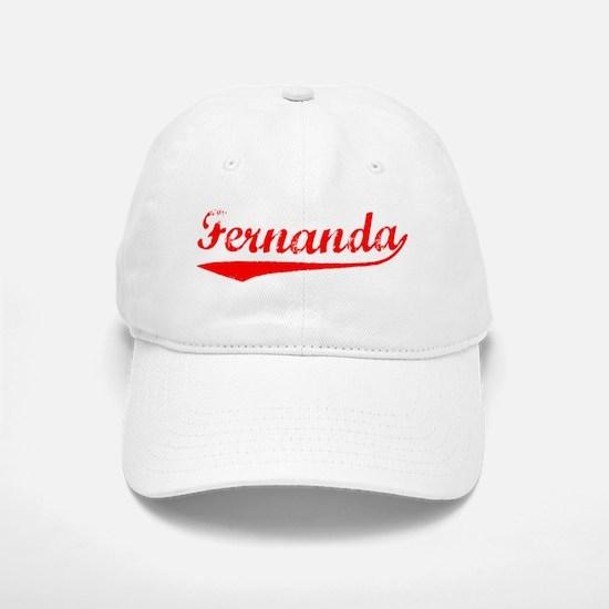 Vintage Fernanda (Red) Baseball Baseball Cap