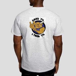 Ash Grey T-Shirt (Hook'em & Book'em on back)