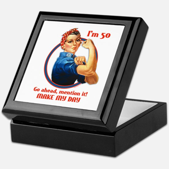 Rosie Riveter 50th Birthday Keepsake Box