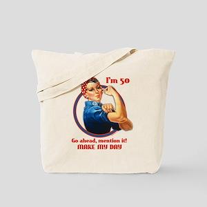 Rosie Riveter 50th Birthday Tote Bag