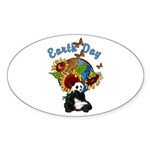 Earth Day Planet Oval Sticker (10 pk)