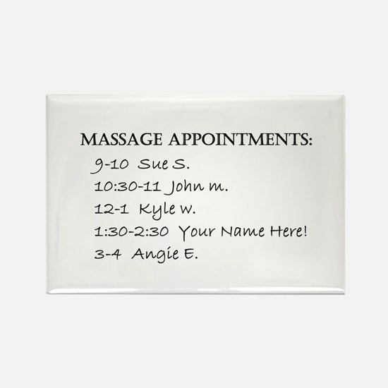 Massage Appointments Rectangle Magnet