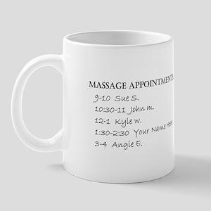 Massage Appointments Mug