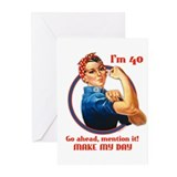 40th birthday women Greeting Cards (10 Pack)