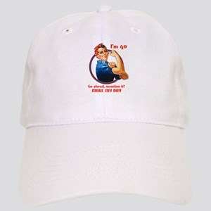 Rosie Riveter 40th Birthday Cap