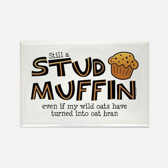 Still A Stud Muffin Rectangle Magnet