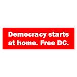 Democracy Starts at Home Sticker (Bumper 50 pk)