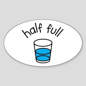 Half Full Oval Sticker