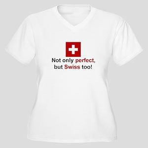 Perfect Swiss Women's Plus Size V-Neck T-Shirt