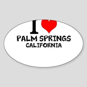 I Love Palm Springs, California Sticker