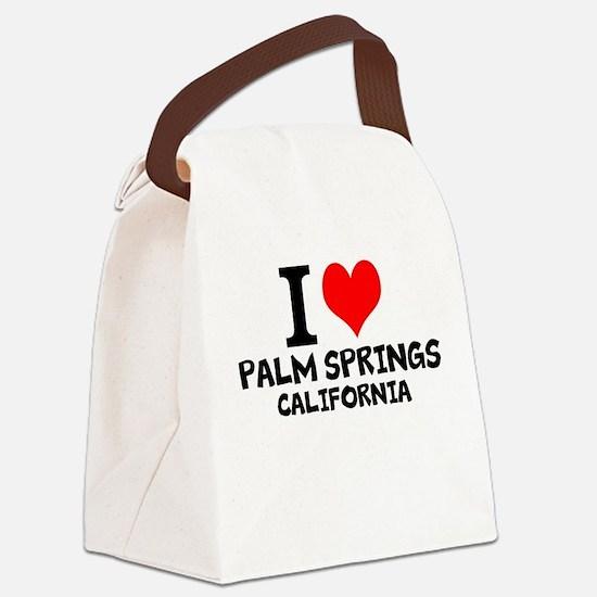 I Love Palm Springs, California Canvas Lunch Bag