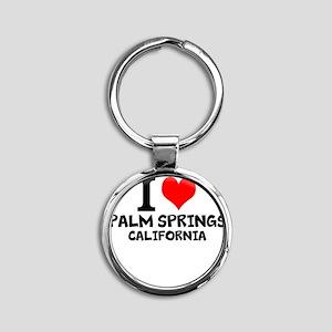I Love Palm Springs, California Keychains