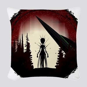 Aliens Woven Throw Pillow