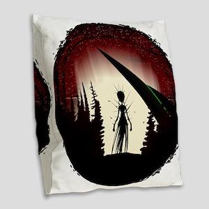 Aliens Burlap Throw Pillow