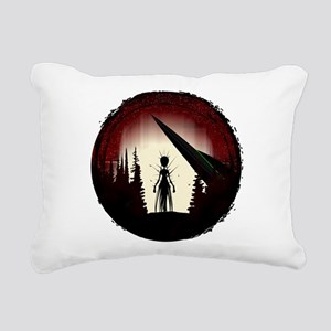 Aliens Rectangular Canvas Pillow