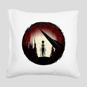 Aliens Square Canvas Pillow