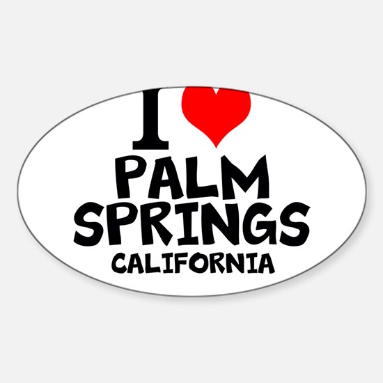 I Love Palm Springs, California Decal