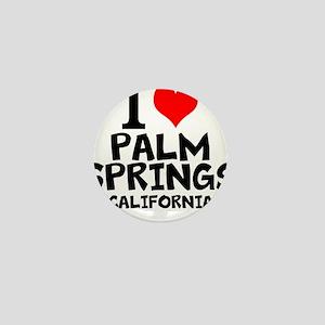 I Love Palm Springs, California Mini Button