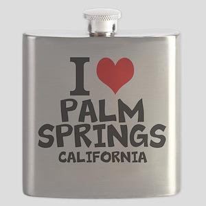 I Love Palm Springs, California Flask